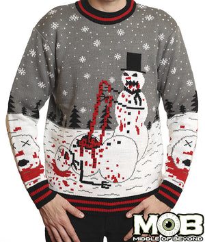 Zombie Snowman Holiday Sweater