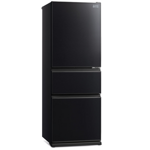 370L 3 Door Bottom Mount  Fridge - Brilliant Black MRCGX370EPGBK