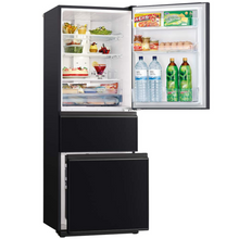 Load image into Gallery viewer, 370L 3 Door Bottom Mount  Fridge - Brilliant Black MRCGX370EPGBK
