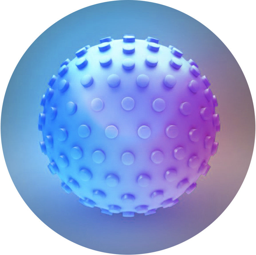 Electric Blue Poochlight™ Light Up LED Throw Ball