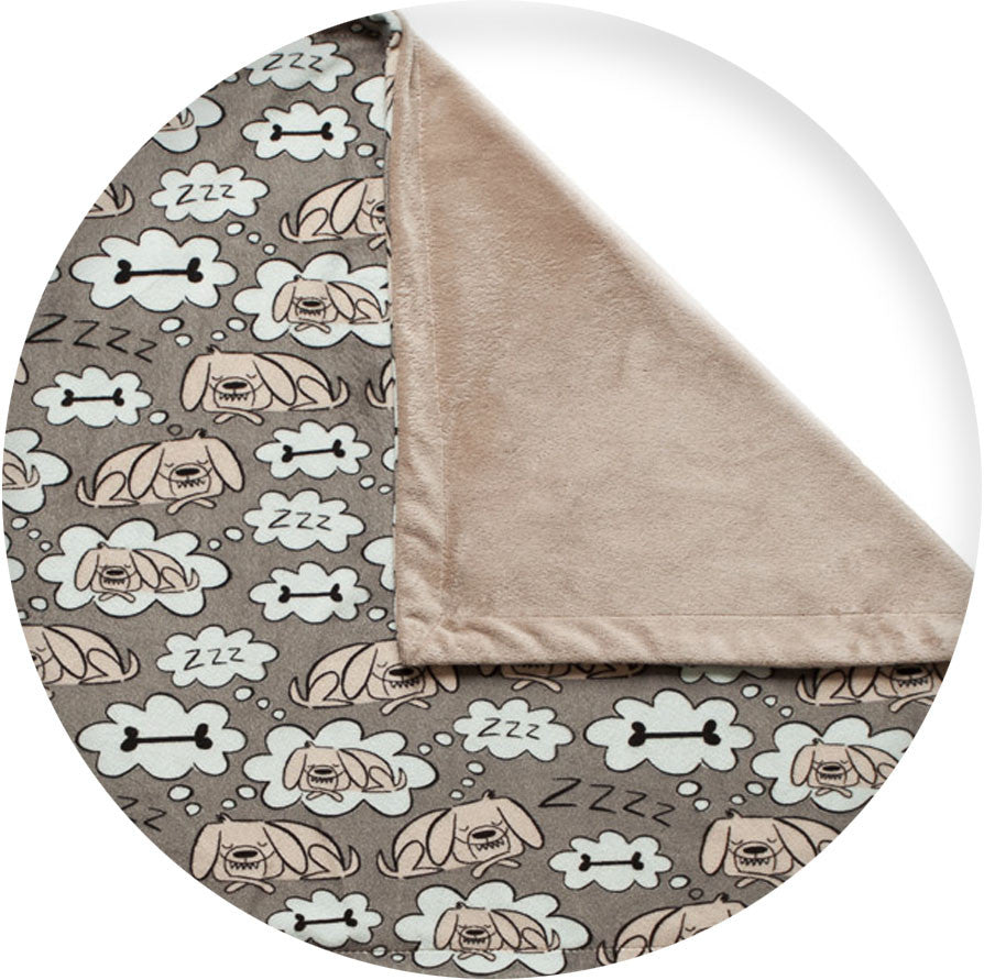 "La Doggie Vita - ""Sleepy Dogs Lie"" Luxe Blanket"