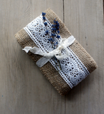 Burlap /  French Crochet Lace  Ribbon