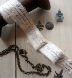 French Script Muslin Ribbon