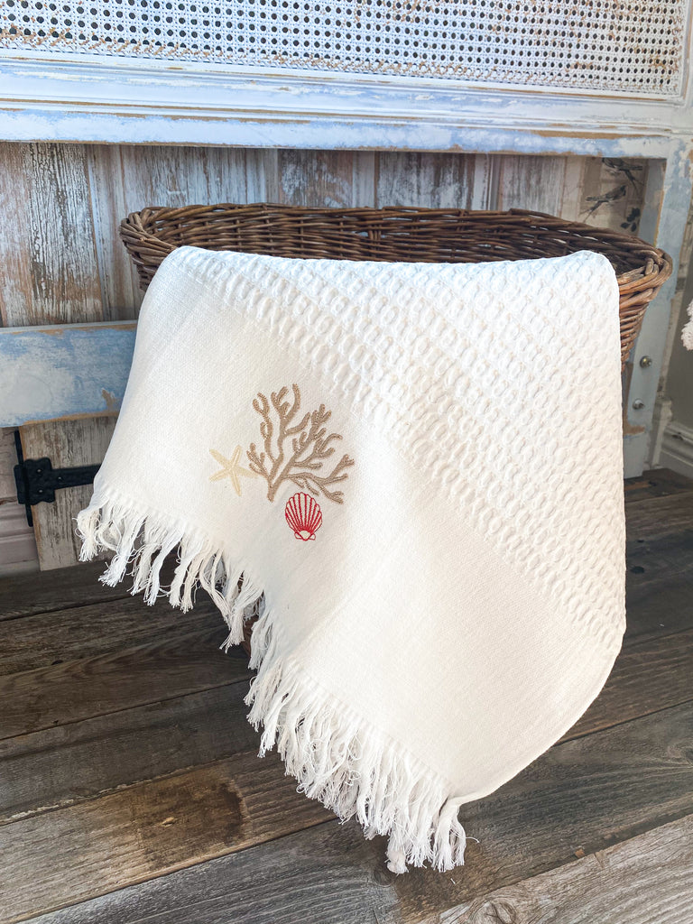 St.Barts Embroidered Towel