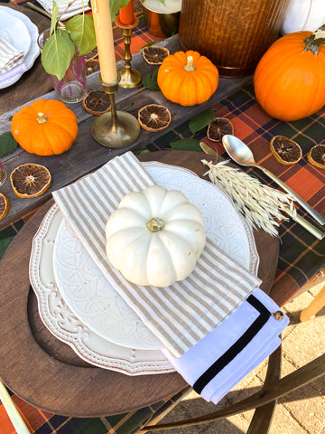 Ticking Stripe Farmhouse Napkins