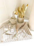 Soft Washed Linen Farmhouse Towel