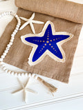 Starfish Patchwork Washed Burlap Runner