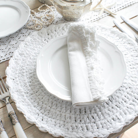 Ardenne Crocheted Round Placemats