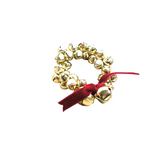 Jingle Bell Napkin Ring-Gold Brass