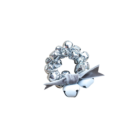 Jingle Bell Napkin Ring-Silver
