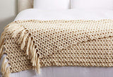 Chunky Knit Wool Blanket Throw