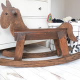 Vintage Wooden Toddler's Rocking Horse