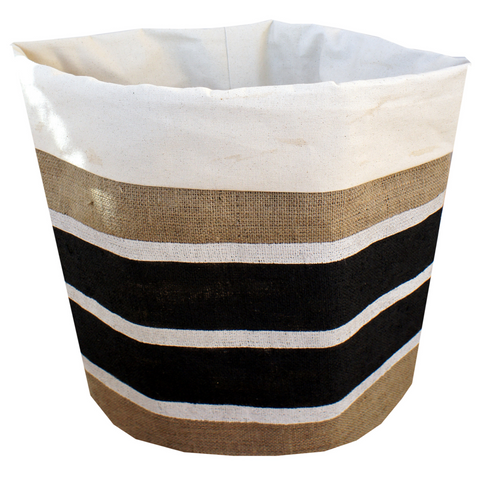 St.Barts Burlap Storage Bin-Laundry Basket-Folded Edge