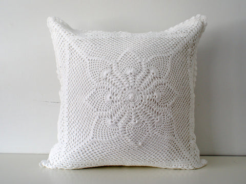 Santorini  Crochet Pillow Cover