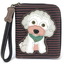 Load image into Gallery viewer, Chala Zip Around Wallet - Poodle