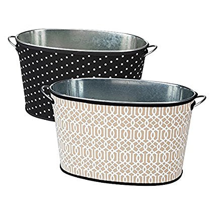 Party Tub Cover Insulated/Reversible - Trellis & Dots