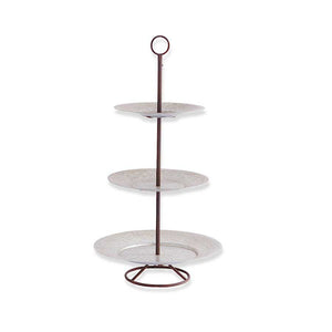 Metal 3 Tiered Disk Platter with Holder 37""