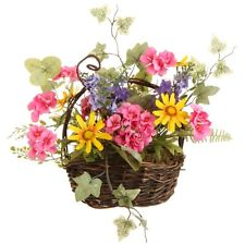 "12"" Mixed Geranium Poppy Basket"