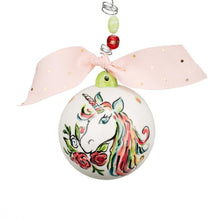 Load image into Gallery viewer, Unicorn Ball Ornament
