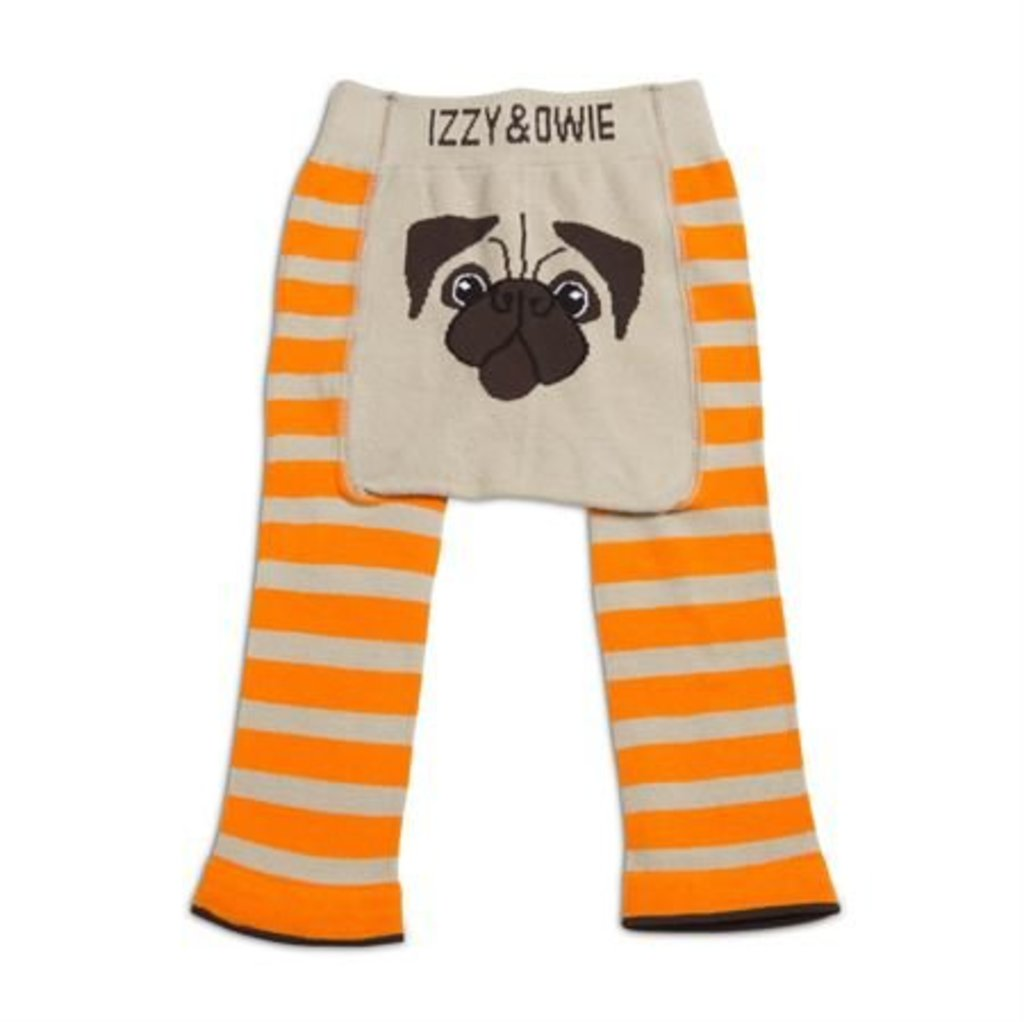 Orange Pug Leggings 12-24m