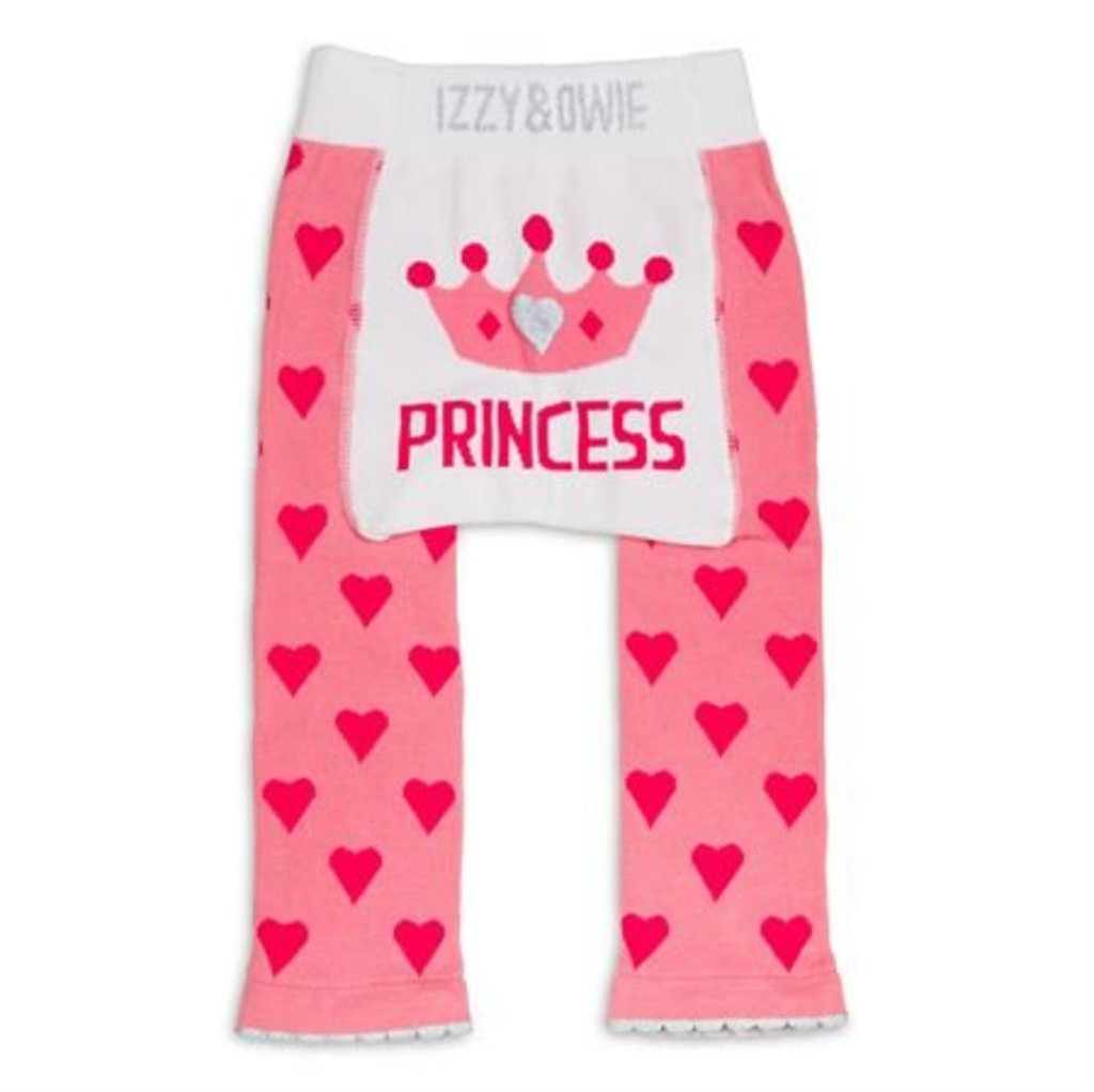 Pink Princess Crown Leggings  0-6m
