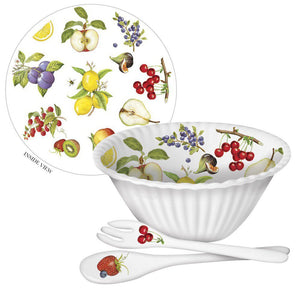 Fruit Melamine Fruit Bowl w/Serveware