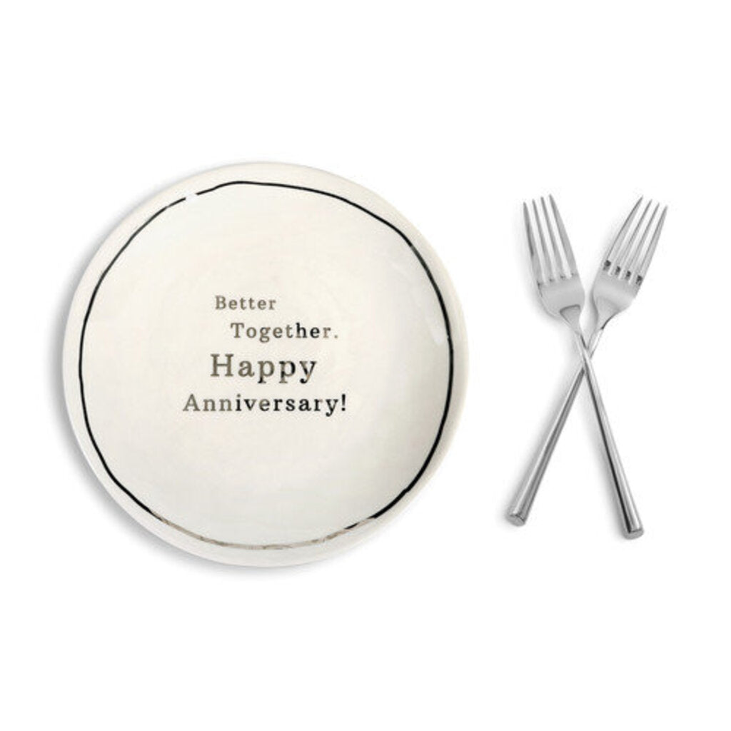 Anniversary Sharing Plate & Forks