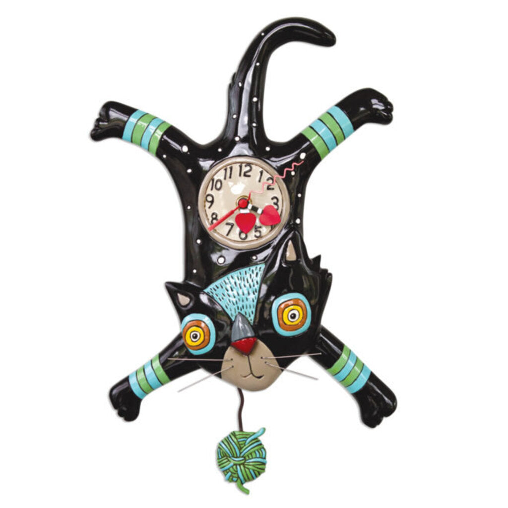 ALLEN DESIGNS STUDIO Craft Attack Cat Pendulum Clock