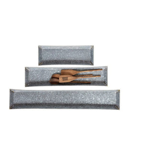 Galvanized Metal Tray - Medium