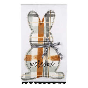Welcome Bunny Tea Towel