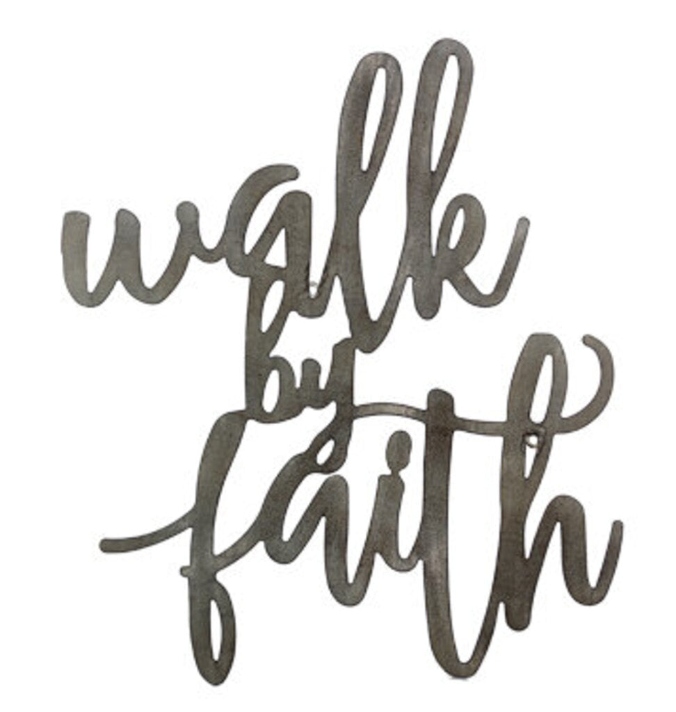 'Walk By Faith' Laser Cut Metal Wall Hanging