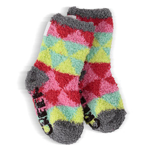 Moose Creek Youth Cozy Crew Socks - Tulip Triangle Size 3-6