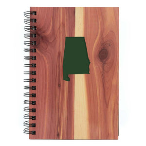 Journal - Wood - AL State Cutout - Spiral