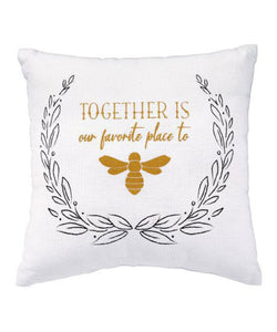 Together Is Our Favorite Place Pillow