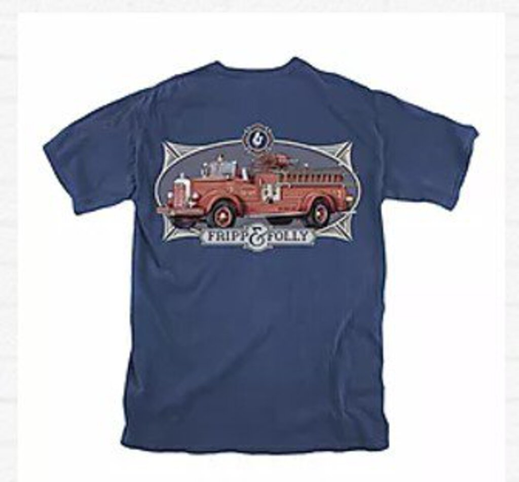 Fripp & Folly T-Shirt - Vintage Fire Truck - Large