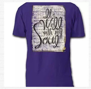 T-Shirt - Praise Hymn - It Is Well - Short Sleeve - Small