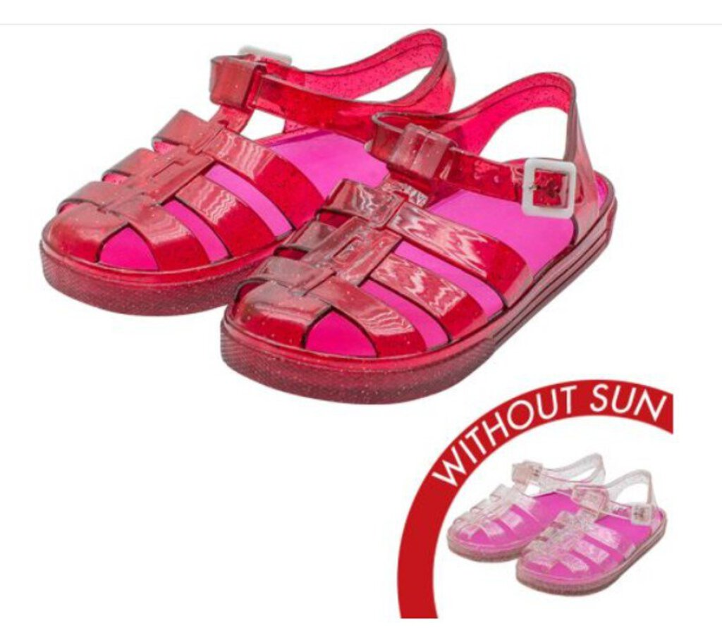 Sol Jelly Shoes - Adventure Sandal - Clear to Pink - Size 7 Kids
