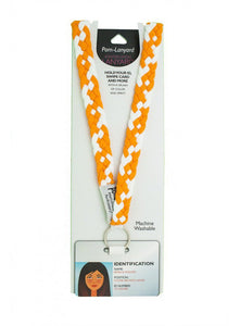 Pom Lanyard - Holland Orange/White