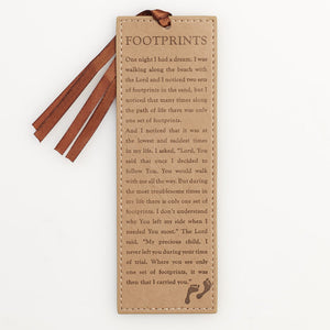 Bookmark - Faux Leather - Footprints