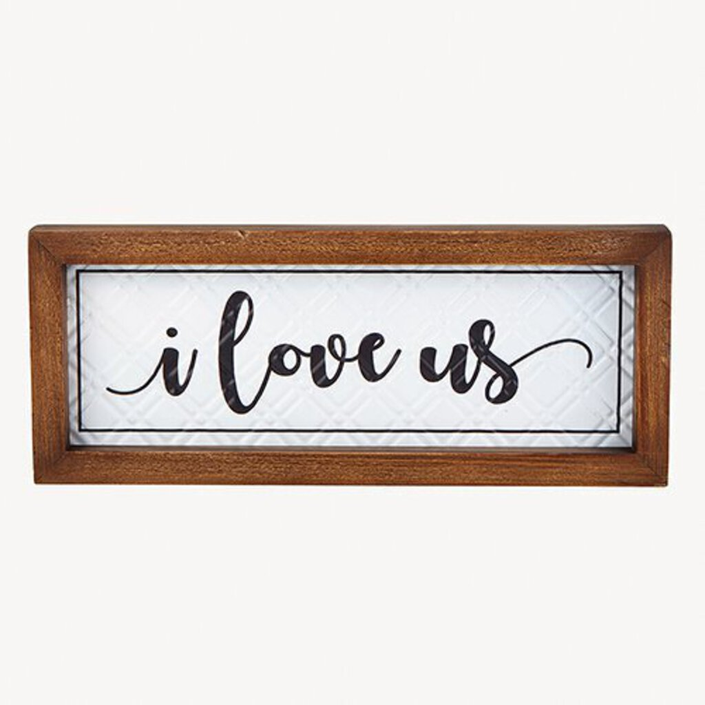 Wall Plaque - I Love Us - 12