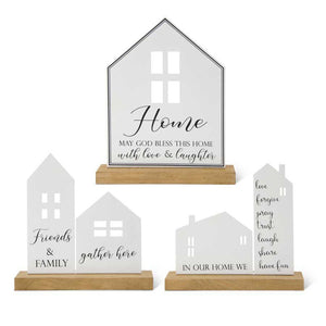 Black and White Enameled Inspirational House - Friends & Family