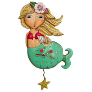 ALLEN DESIGNS STUDIO Shelley Mermaid Pendulum Clock