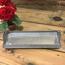 "Load image into Gallery viewer, 15"" Galvanized Chicken Feeder Trough"