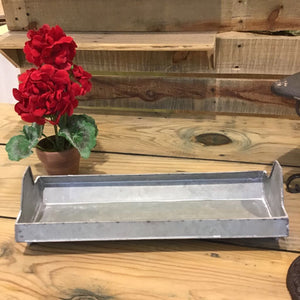 "15"" Galvanized Chicken Feeder Trough"