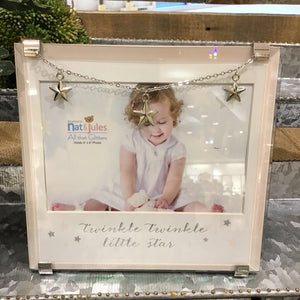 Nat & Jules Twinkle Little Star Frame 4x6 - Pink