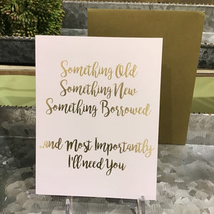 Something Borrowed Note