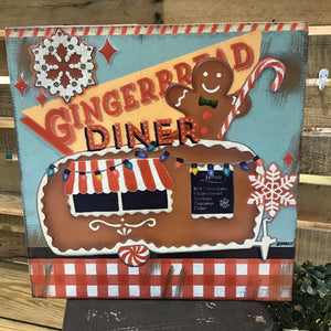 Gingerbread Stamped Wall Art - 15""