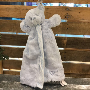 Blue Bear Puppet Blanket