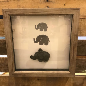 Stacked Elephant Shadow Box