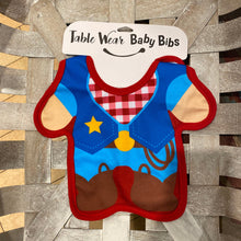 Load image into Gallery viewer, Cowboy Baby Bib